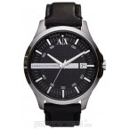 Đồng hồ nam Armani Exchange - Sleek Black Leather 46mm