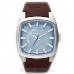 Đồng hồ nam Diesel - Scalped / Brown Leather / Silver Tone Case / Blue Dial 46mm x 40mm