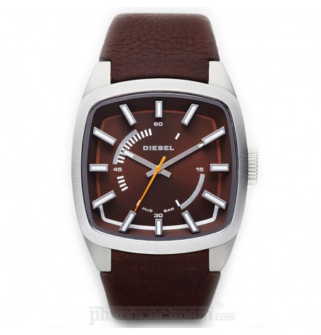 Đồng hồ nam Diesel - Scalped / Brown Leather / Silver Tone Case 46mm x 40mm