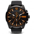 Đồng hồ nam Diesel - Mega Chief Black Leather / Black Case 59mm x 51mm