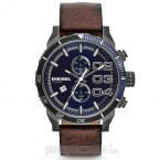 Đồng hồ nam Diesel - Double Down 48 Chnorograph  Brown Leather / Blue Dial 59mm x 48mm