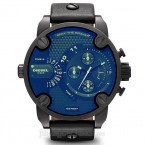Đồng hồ nam Diesel - Little Daddy Black Leather / Black Case / Blue Dial 61mm x 51mm