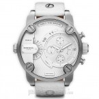 Đồng hồ nam Diesel - Little Daddy White Leather / Silver Tone Case / White Dial 61mm x 51mm