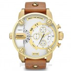 Đồng hồ nam Diesel - Little Daddy Classic Brown Leather / Gold Tone Case 61mm x 51mm