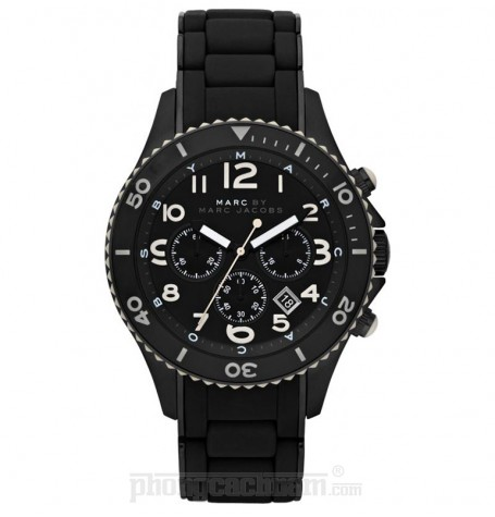 Đồng hồ nam Marc Jacobs - Metal Rock Chrono Black 46mm