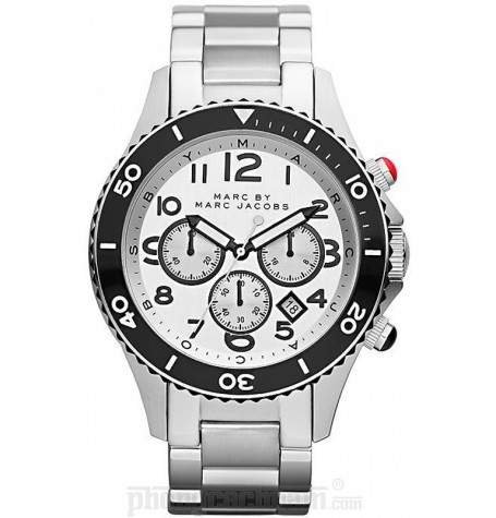 Đồng hồ nam Marc Jacobs - Metal Rock Chrono Silver 46mm