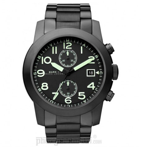 Đồng hồ nam Marc Jacobs - Larry Chronograph Black Stainless Steel 46mm