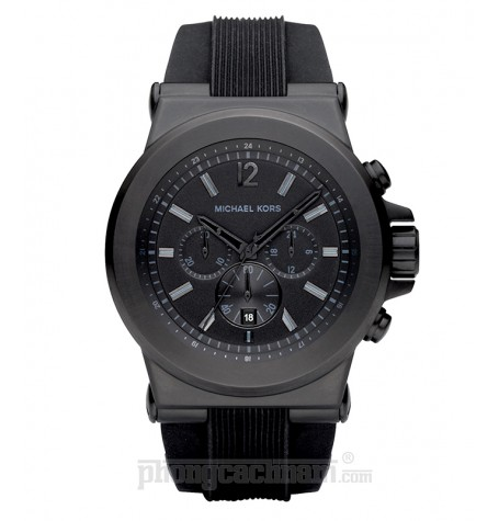 Đồng hồ nam Michael Kors - Silicone Black Chronograph 45mm