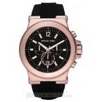 Đồng hồ nam Michael Kors - Oversize  Dylan Silicone Black / Rose Gold Chronograph 48mm
