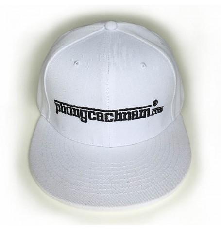 Mũ nón lưỡi trai hip hop - PhongCachNam logo - màu trắng