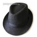 """Mũ nón panama / fedora - PhongCachNam """"Fashionista"""" màu xanh đen vành nhỏ"""
