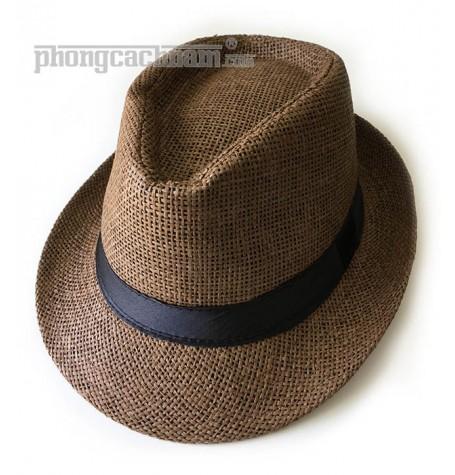 """Mũ nón panama / fedora - PhongCachNam """"Fashionista"""" màu nâu vành nhỏ"""