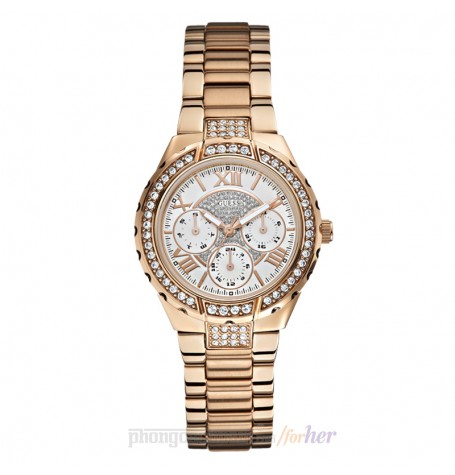 Đồng hồ nữ Guess - Rose Gold Tone Crystallized Watch 37mm