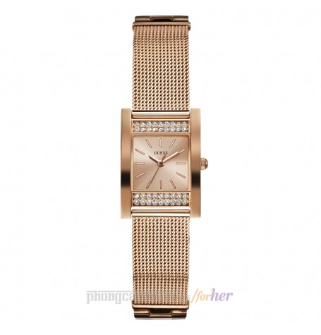 Đồng hồ nữ Guess - Rose Gold Tone Stainless Steel Mesh Bracelet 25mm x 23mm