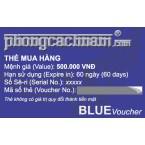 Thẻ mua hàng - BLUE Voucher 500.000 VNĐ