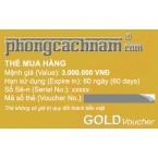 Thẻ mua hàng - GOLD Voucher 3.000.000 VNĐ