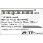 Thẻ mua hàng - WHITE Voucher 100.000 VNĐ