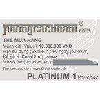 Thẻ mua hàng - PLATINUM-1 Voucher 10.000.000 VNĐ
