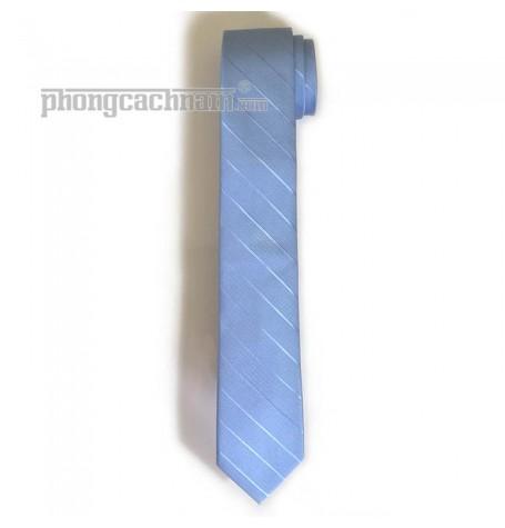 """Cà vạt bản trung (7cm) - PhongCachNam """"Trend Setter"""" màu xanh da trời"""