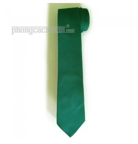 """Cà vạt bản trung (8cm) - PhongCachNam """"Fashionista"""" màu xanh lá cây"""