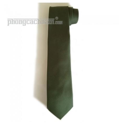 """Cà vạt bản trung (8cm) - PhongCachNam """"Fashionista"""" màu ô-liu"""