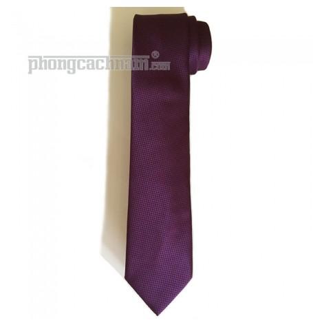 """Cà vạt bản trung (8cm) - Marco Cannavaro """"Royal Purple"""""""