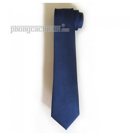 """Cà vạt bản trung (8cm) - Marco Cannavaro """"Uomo in Blu"""" màu xanh sậm"""
