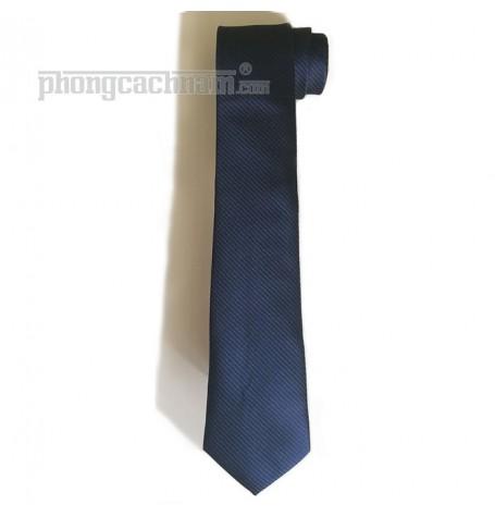 """Cà vạt bản trung (8cm) - PhongCachNam """"Soul - Blue"""" màu xanh sậm"""
