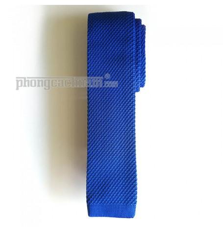 """Cà vạt len dệt kim bản nhỏ (5.5cm~6cm) - PhongCachNam """"Fashionista"""" màu xanh"""