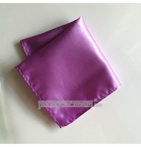 """Khăn túi áo vest - Pocket Square - PhongCachNam """"Fashionista"""" 22cm x 22cm màu tím"""