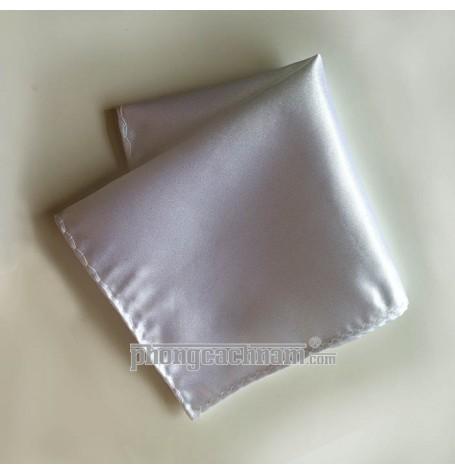 """Khăn túi áo vest - Pocket Square - PhongCachNam """"Fashionista"""" 22cm x 22cm màu trắng"""