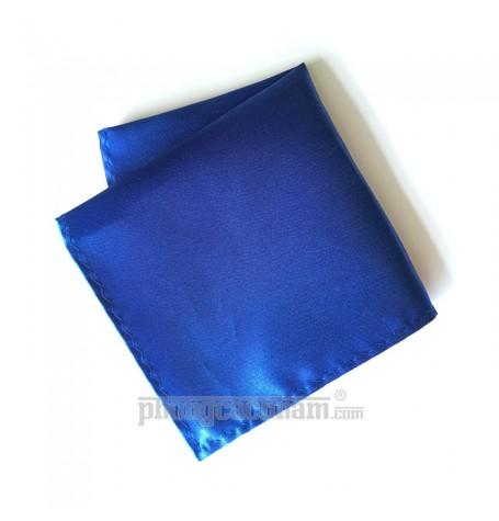 """Khăn túi áo vest - Pocket Square - PhongCachNam """"Fashionista"""" 22cm x 22cm màu xanh"""