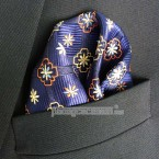 "Khăn túi áo vest - Pocket Square - Marco Cannavaro ""Blue Trust"" 30cm x 30cm"