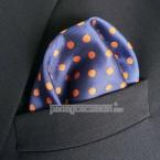 "Khăn túi áo vest - Pocket Square - PhongCachNam ""Elegance in Blue"" 30cm x 30cm"