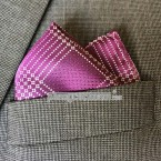 "Khăn túi áo vest - Pocket Square - PhongCachNam ""Purple Square"" 30cm x 30cm"