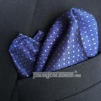 "Khăn túi áo vest - Pocket Square - PhongCachNam ""Silent Expression Blue"" 30cm x 30cm"