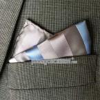 "Khăn túi áo vest - Pocket Square - PhongCachNam ""Whisper"" 30cm x 30cm"
