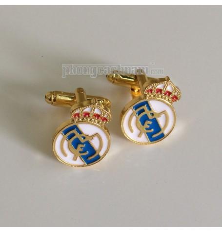 """Khuy cài măng sét - Cufflinks - PhongCachNam """"Real Madrid"""""""