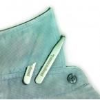 Thanh dựng cổ áo (cặp) - Collar Stays - PhongCachNam - Stainless Steel 70mm x 9mm x 0.8mm